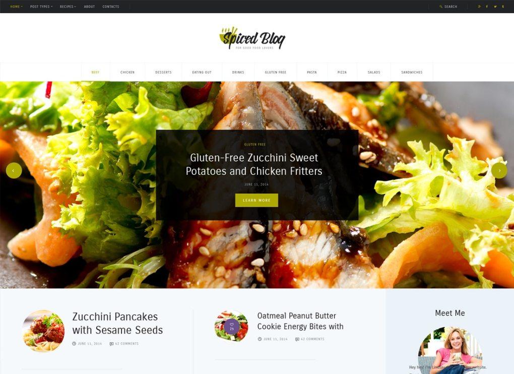 Blog épicé | Un thème WordPress de recettes et de nourriture personnelles