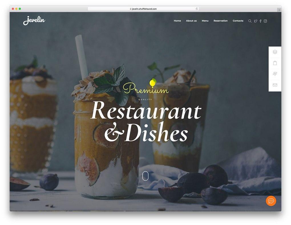Conception WordPress de cuisine raffinée