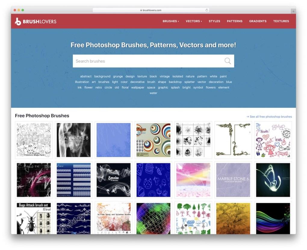 Brushlovers Pinceaux Photoshop gratuits
