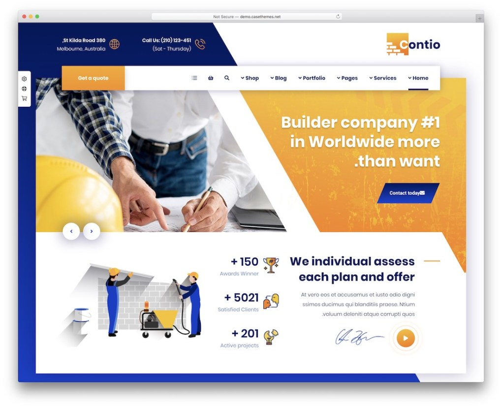 contio rtl wordpress theme