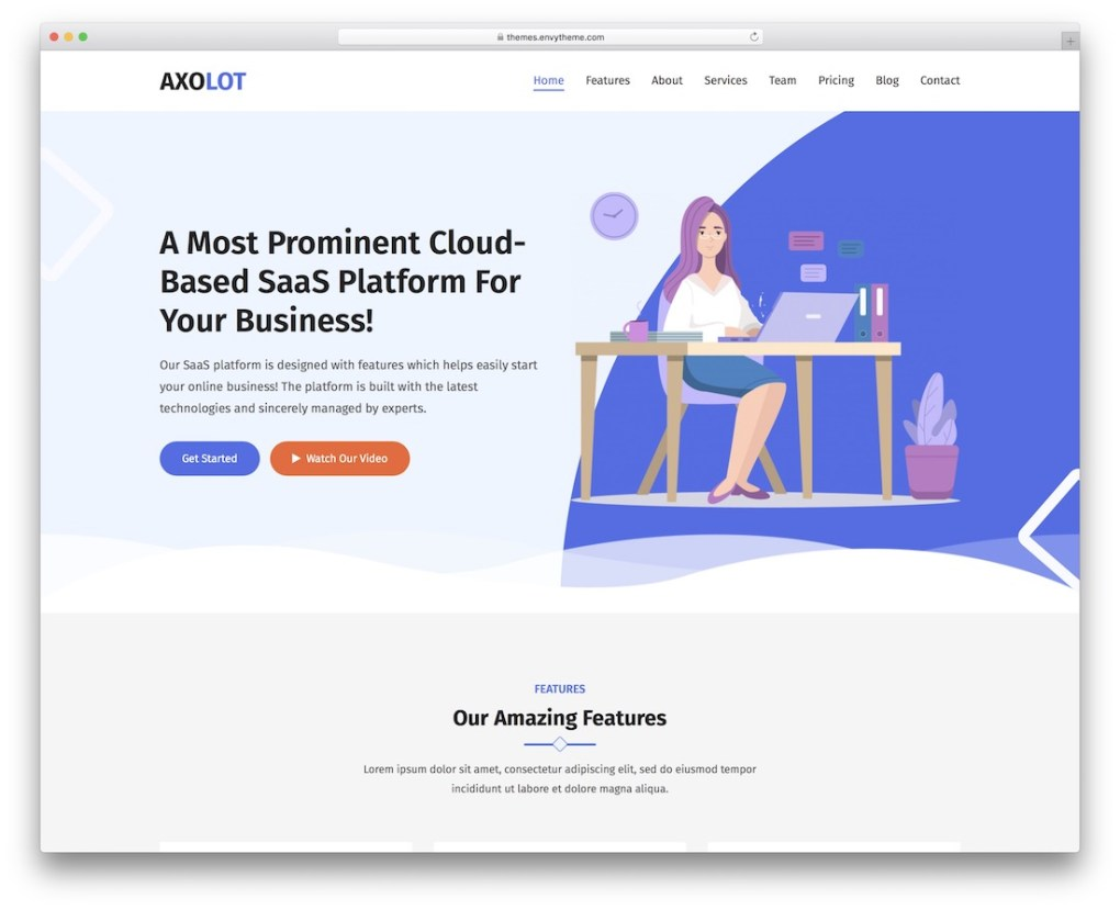 axolot rtl wordpress theme