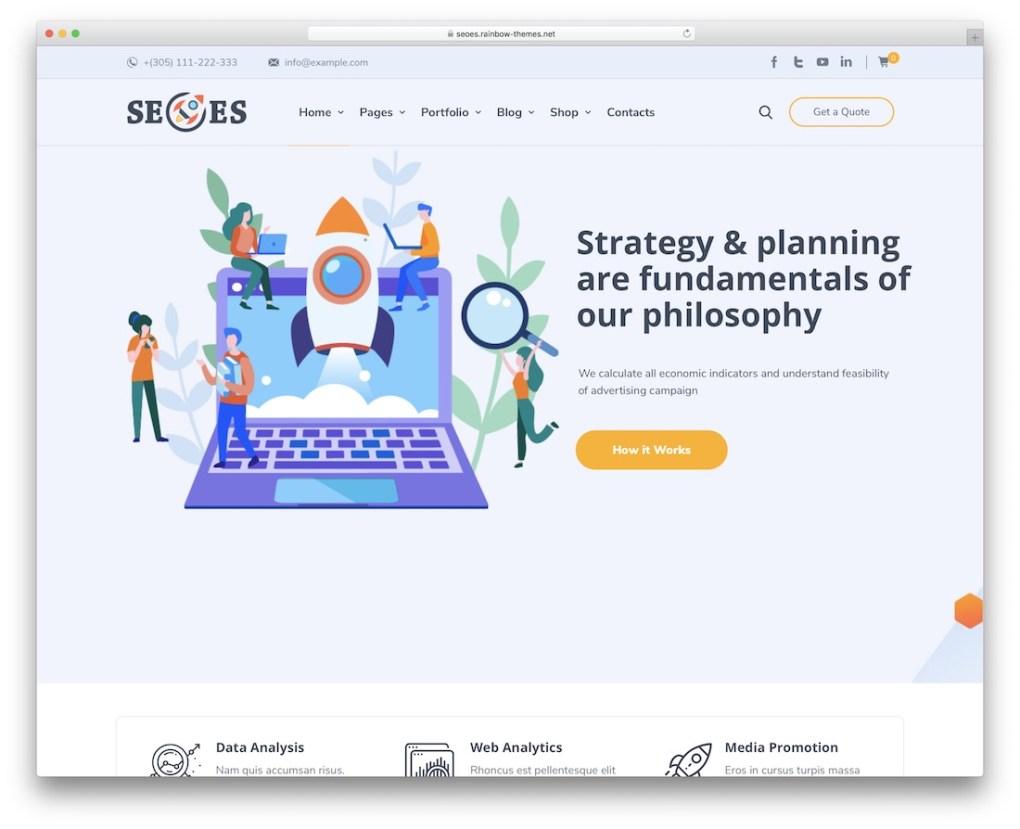 Thème wordpress marketing seoes
