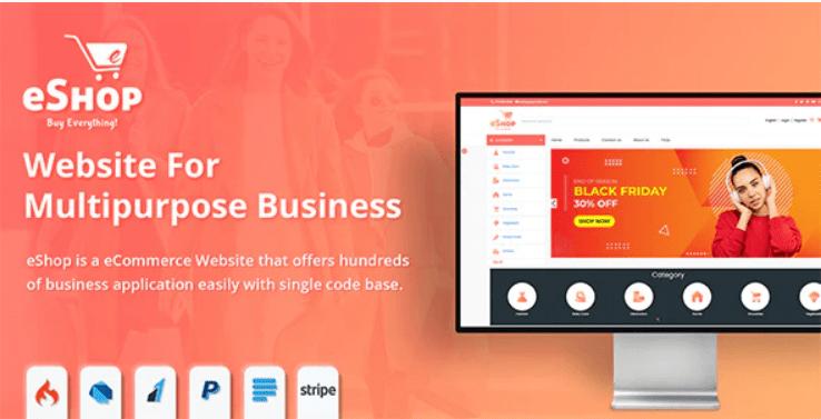 eShop - Multipurpose Ecommerce/Store Website