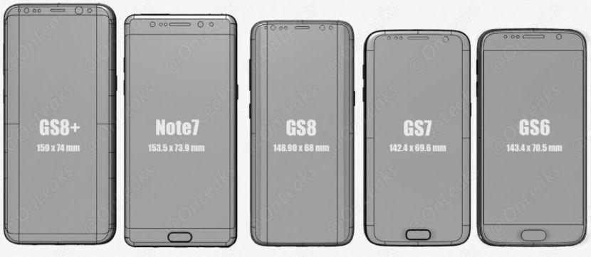Comparativa Galaxy S6-S7-S8