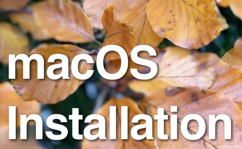 macOS Installation: Strange New World