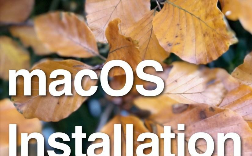 macOS Installation Book – Update!