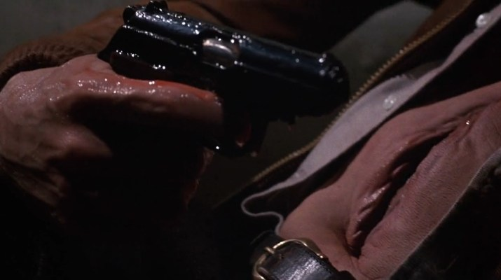 União do corpo com o objeto. Cena de Videodrome (1983).