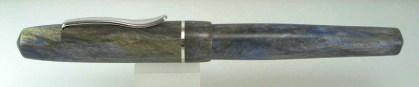 Master Scrivener in Moonlit Forest alumilite, Sterling Silver Cap Band - 3