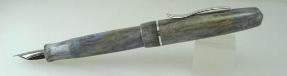 Master Scrivener in Moonlit Forest alumilite, Sterling Silver Cap Band - 6