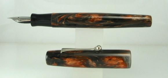 Scrivener in Black and Tan alumilite - 1