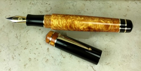 Idyll in Big Easy Gold & Black Acrylic - Large