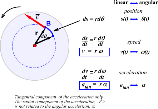 ... angular quantities angular speed and angular accelerations ω and α