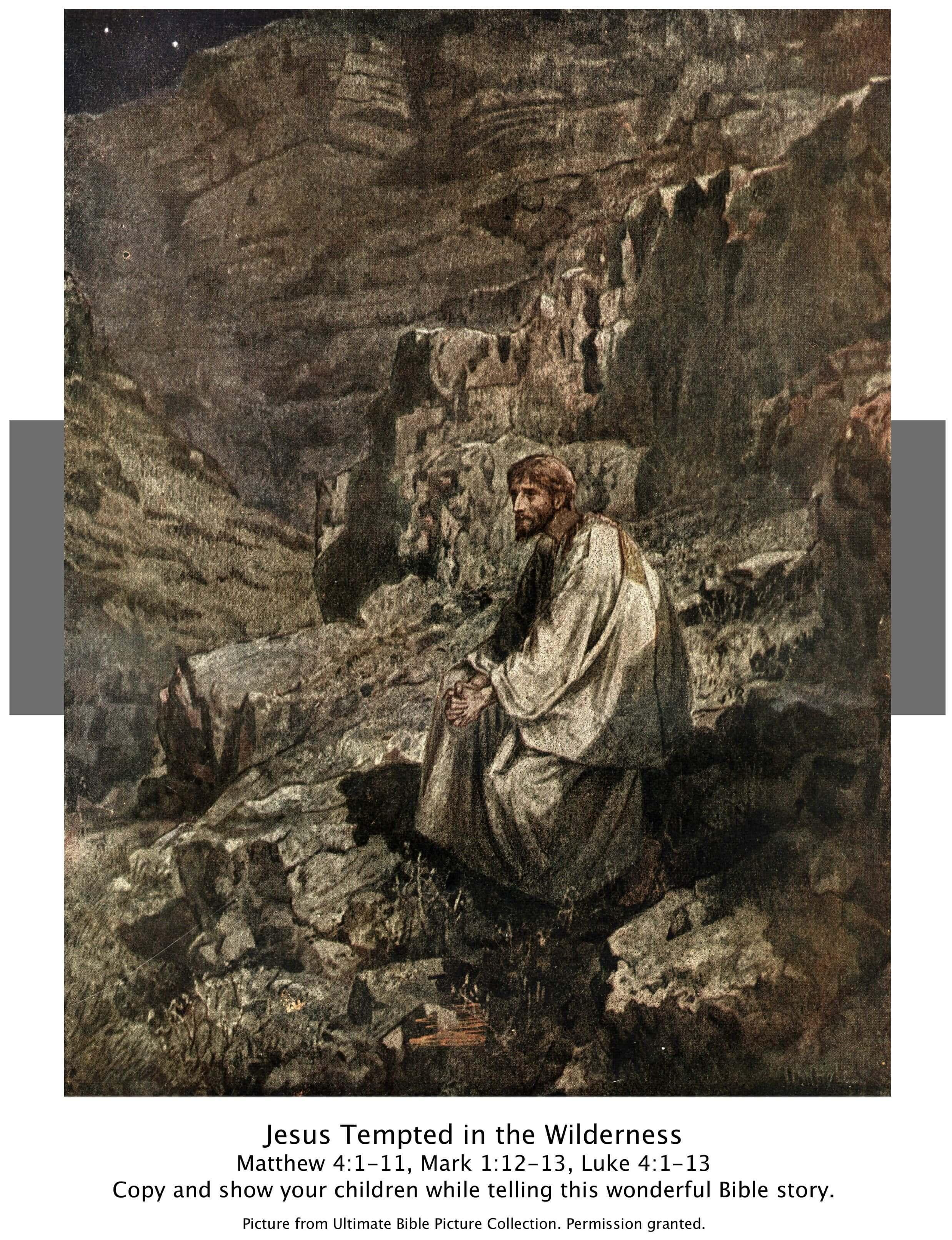 Bible Story PicturesJesus Temptation In The Wilderness