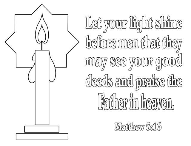 Bible Verse Coloring Pages for Light in the Bible by The Scripture