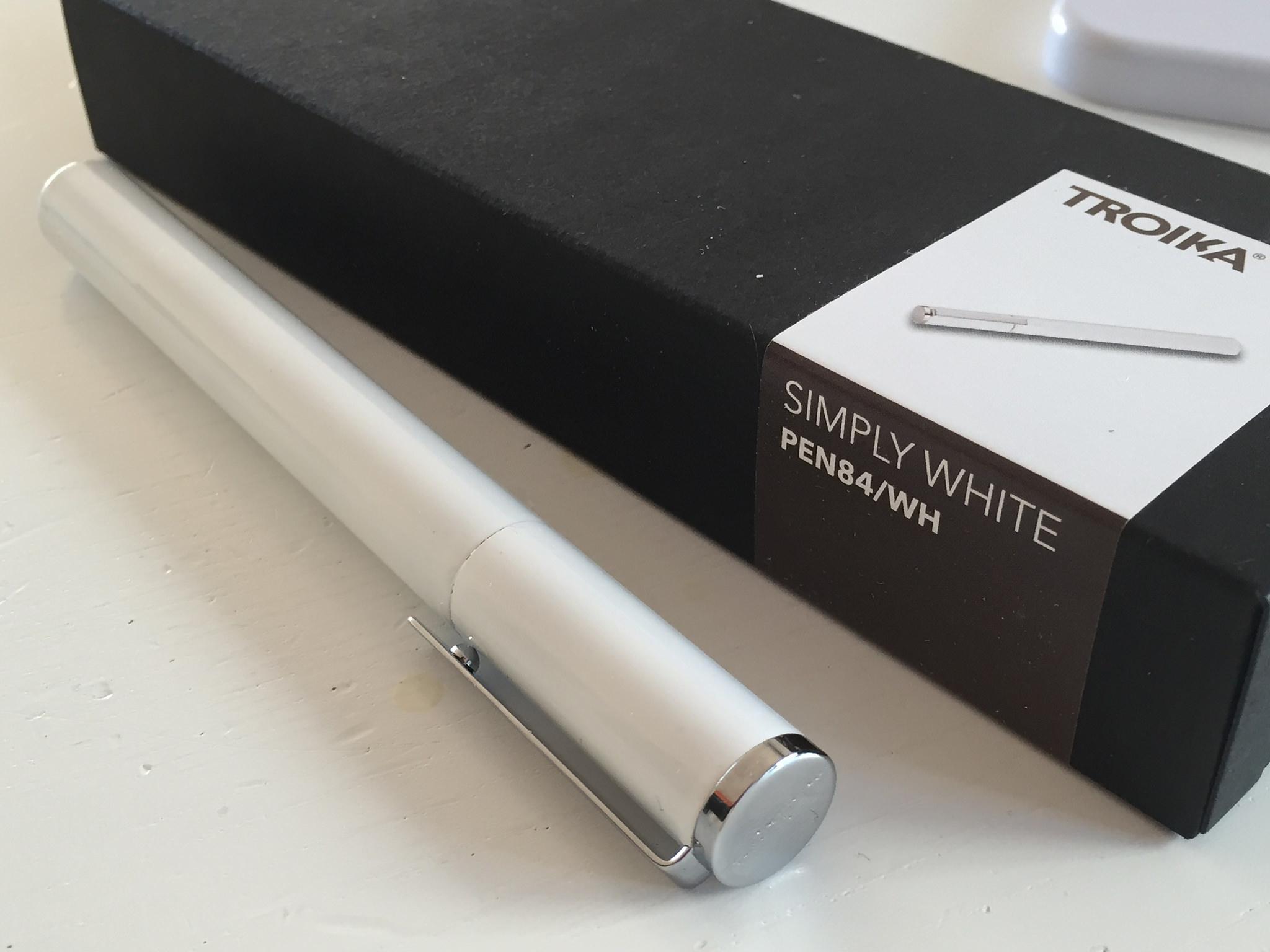 Troika simply white_rollerball_fountain pen