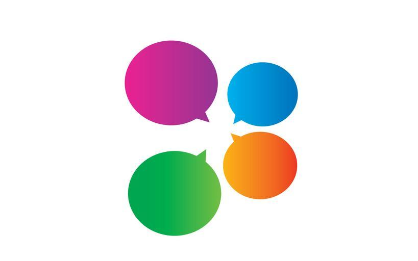 abstract_glossy_speech_bubbles