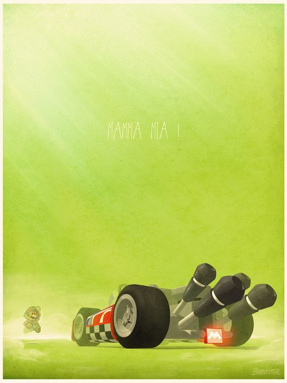 POSTERS OF FAMOUS CARS AND VEHICLES IN TV, MOVIES AND VIDEOGAMES via BannCars | Mario Kart.:
