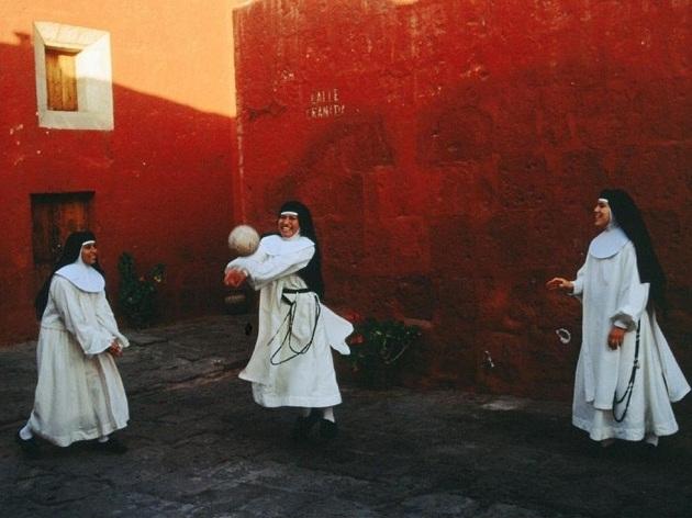 playing nuns arequipa peru