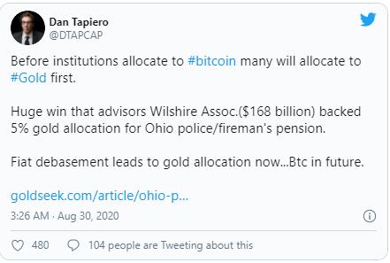 Photo of მოსაზრება: Bitcoin-ი ინსტიტუციონალებს მიიზიდავს დოლარის გაუფასურების გამო