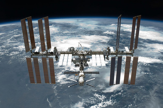 international space station after undocking