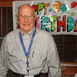 Hospital Volunteer Celebrates His 100th Birthday