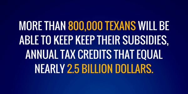 Supreme Court upheld ACA allows 800,000 Texans to keep annual tax credits