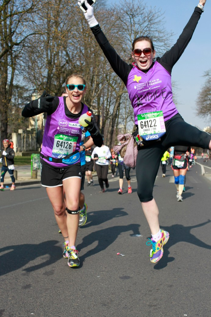 Candice runs Paris Marathon