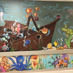 Mural brightens walls and hearts in hospital NICU