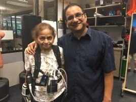 Patient Tarutala Patel photographed with her biggest cheerleader, son, Parth Patel