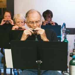 COPD patients use harmonicas to increase lung capacity