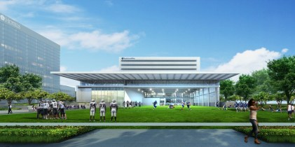 Indoor / Outdoor Training Field at The STAR – Exterior Renderi
