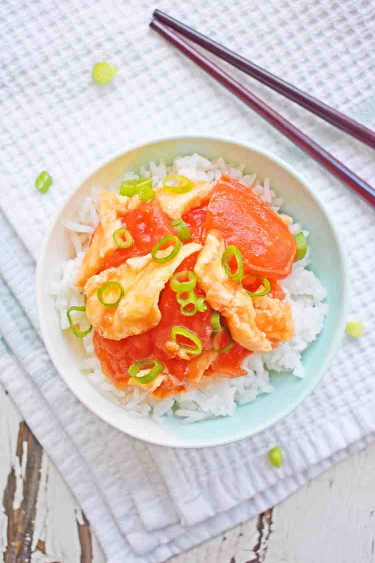 Chinese Home Style Eggs & Tomatoes