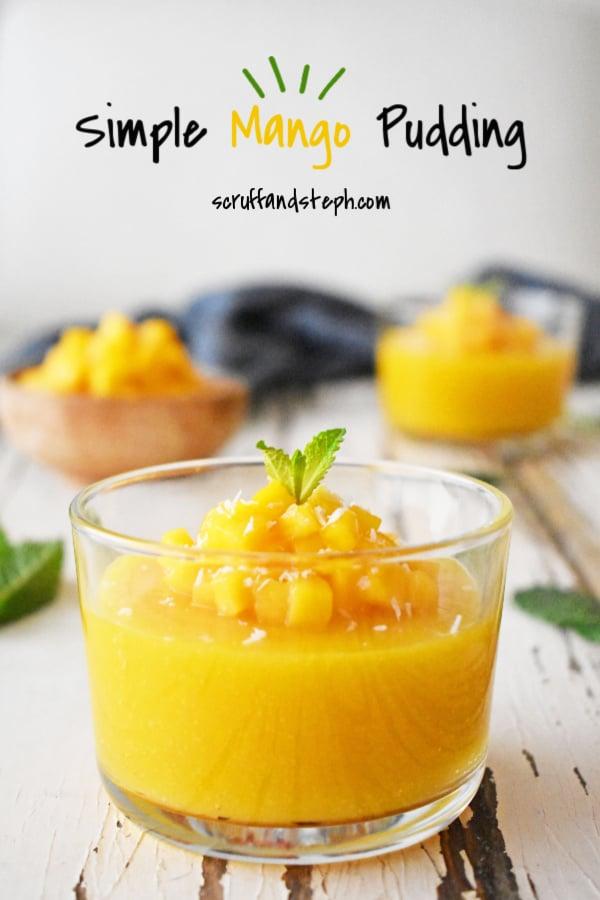 Simple Mango Pudding