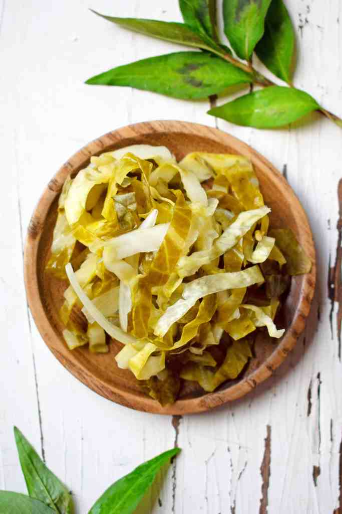 Vietnamese Pickled Green Cabbage