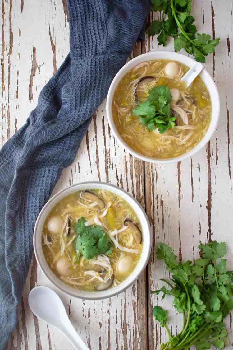 Egg Drop Chicken and Asparagus Soup