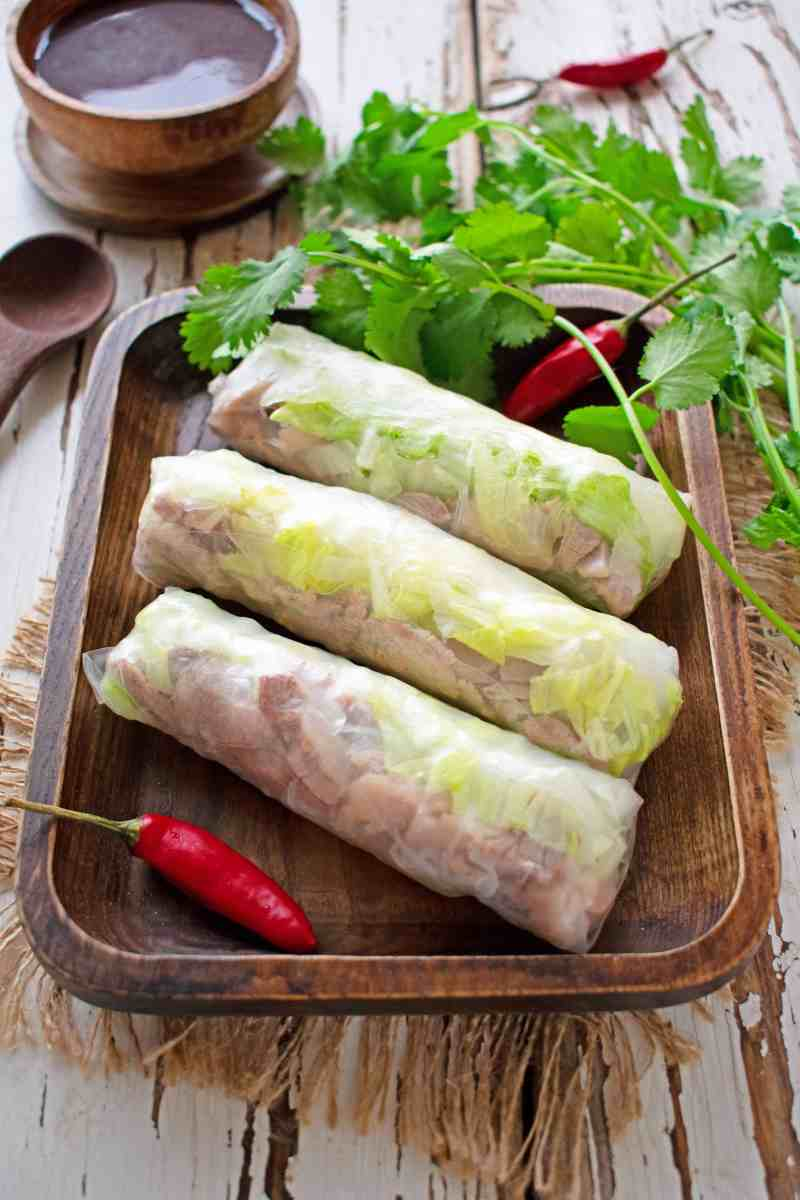 Budget Pork Rice Paper Rolls with Hoisin Sauce