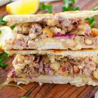 Cheap Tuna Melt Flat Bread Sandwich