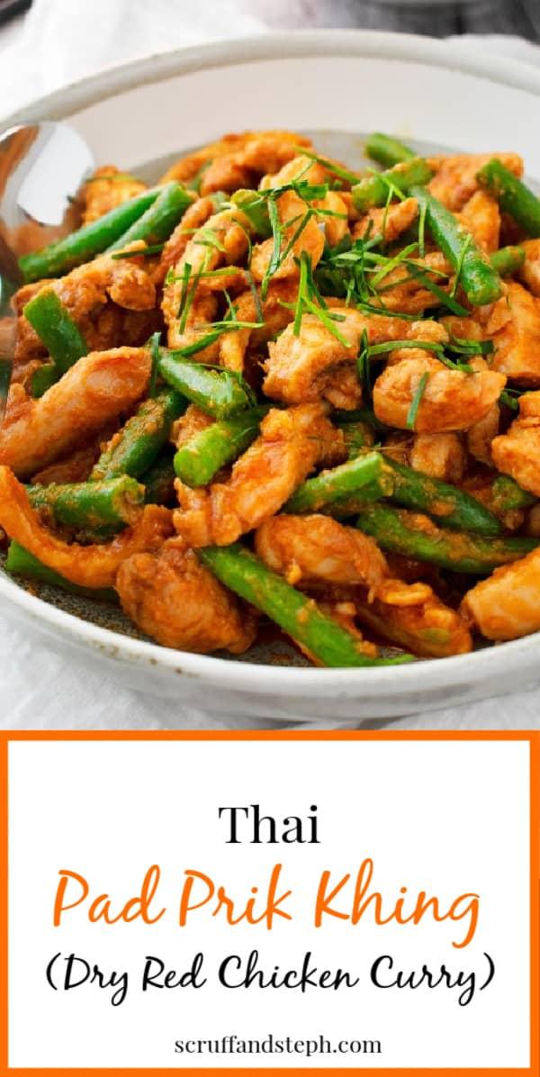Pad Prik Khing (Thai Dry Red Curry)