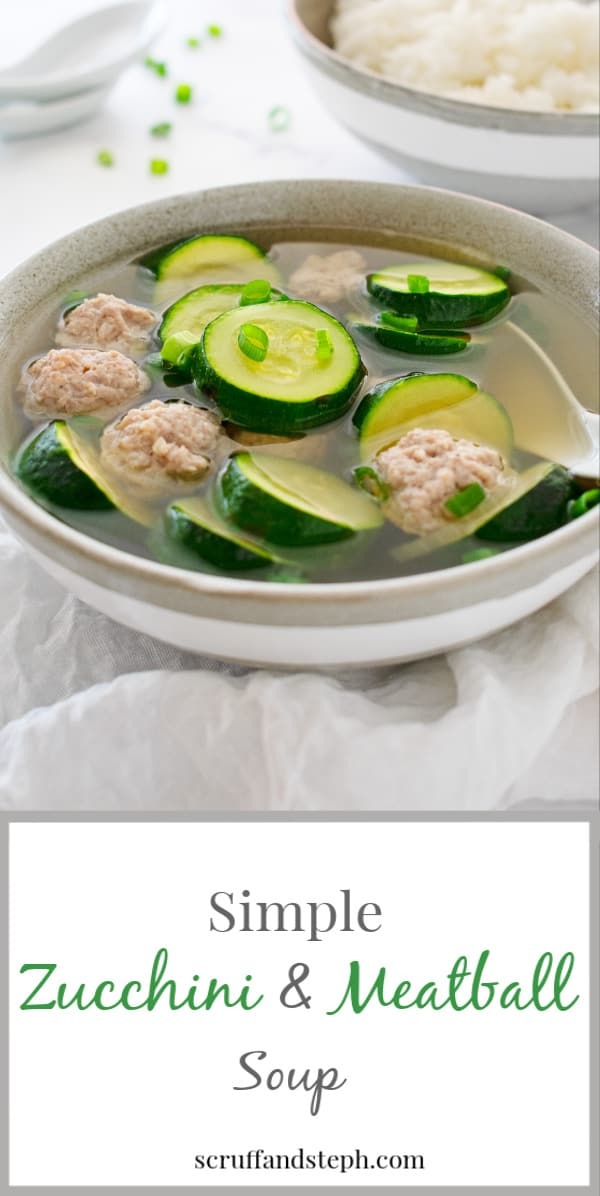 Simple Zucchini and Meatball Soup