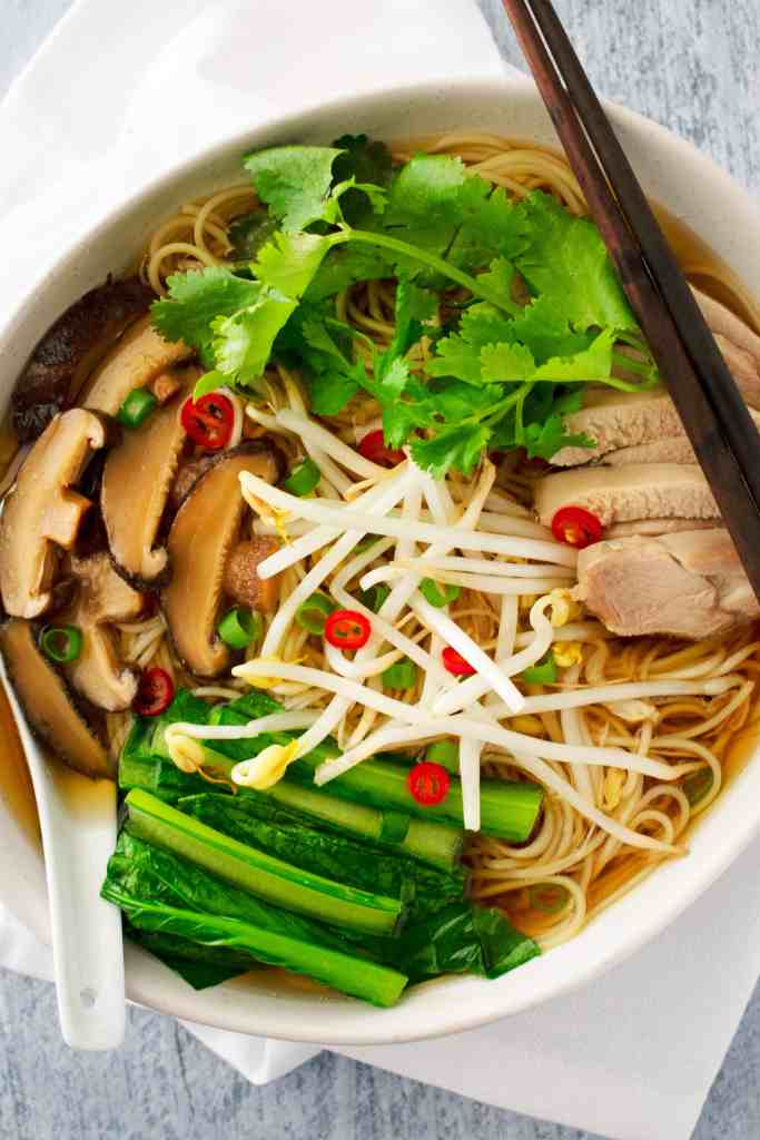 chicken and egg noodle soup - scruff & steph