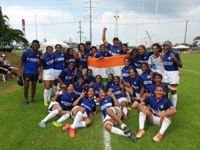 India wins their first international women's rugby match