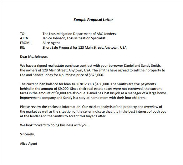 Proposal Letter Templates Milas