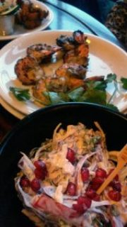 Dishoom Slaw and masala prawns - Dishoom, Edinburgh.