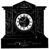 mantelpiece clock showing 9:03