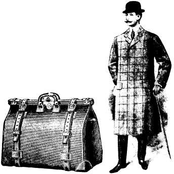 case and man in travelling attire