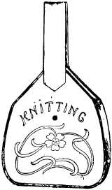bottle-shaped knitting bag