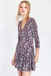 UO's floral lace-up back dress