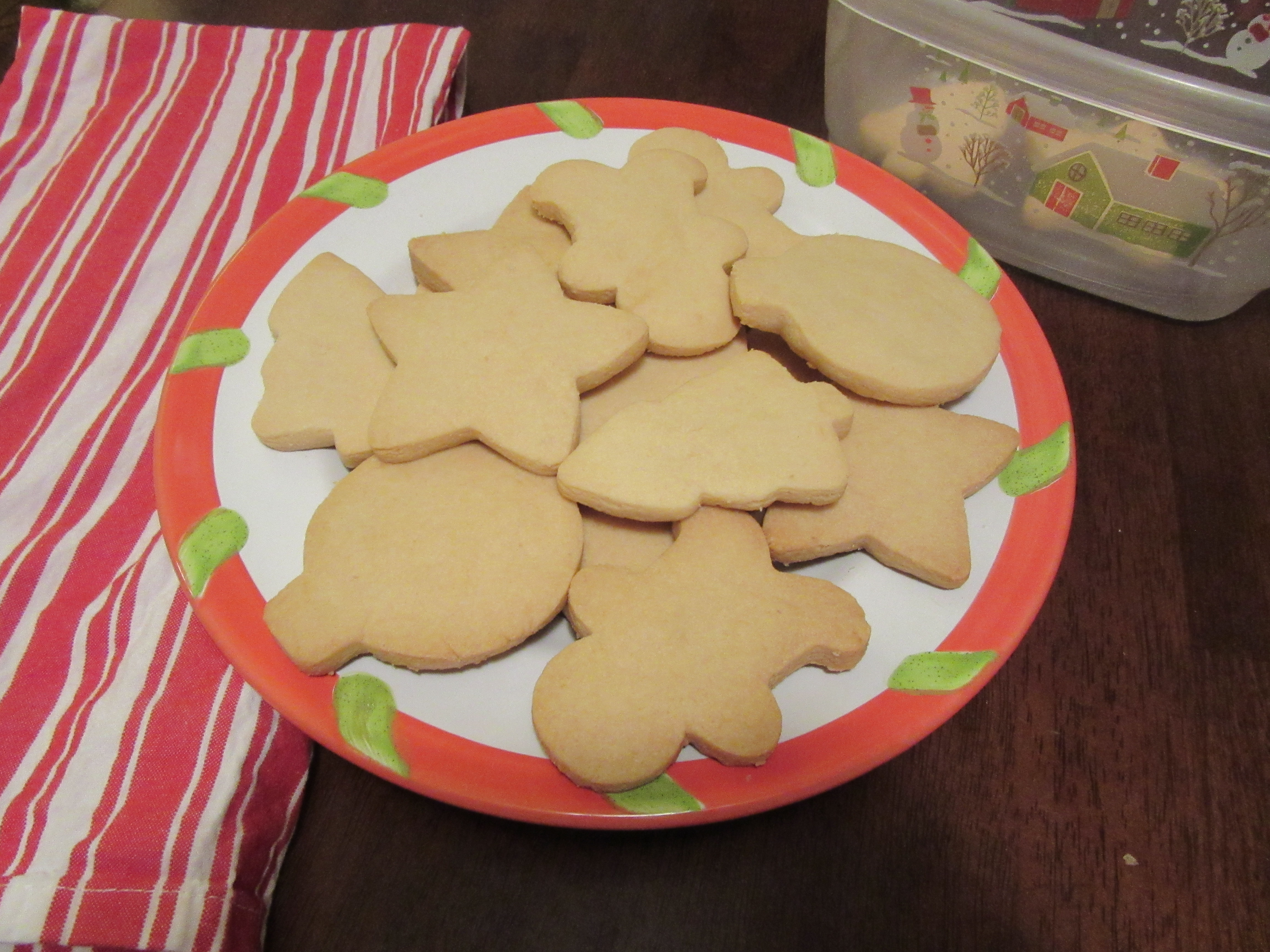 Shortbread cookies are ready to eat.