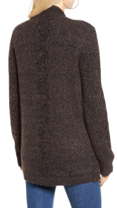 Cotton Emporium Marled Knit Open Sweater