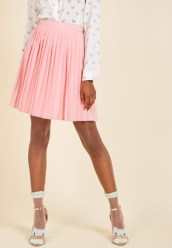 ModCloth Pleats as Punch A-Line Skirt